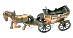 Horse and Coach Die Cast Metal Collectible Pencil Sharpener Design 1