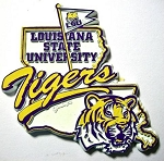 LSU Tigers Outline Fridge Magnet-NCAA