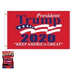 Trump 2020 Keep America Great Red 3 x 5 Flag