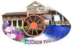 Pigeon Forge Tennessee Grist Mill with Movable Water Wheel Artwood Fridge Magnet Design 1