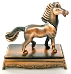 Horse Standing on Stand Die Cast Metal Collectible Pencil Sharpener Design 1