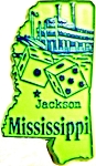 Mississippi Jackson United States Fridge Magnet
