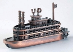 Steam Boat with Paddle Wheel Die Cast Metal Collectible Pencil Sharpener Design 1