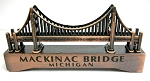Mackinac Bridge Michigan Die Cast Metal Collectible Pencil Sharpener Design 1