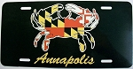Annapolis Maryland Crab with Flag Design License Plate Design 25