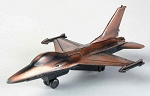 F-16 Fighter Die Cast Metal Collectible Pencil Sharpener Design 1