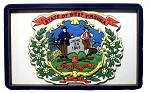 West Virginia State Flag Artwood Fridge Magnet