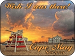 Wish I was there Cape May New Jersey Photo Fridge Magnet