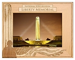 National WWI Museum Liberty Memorial Laser Engraved Wood Picture Frame (5 x 7)