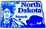 North Dakota Bismark United States Fridge Magnet