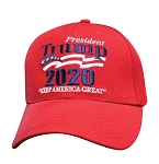 Trump 2020 Keep America Great Red Embroidered Baseball Cap