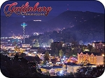 Gatlinburg Tennessee at Night Fridge Magnet