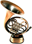 French Horn Die Cast Metal Collectible Pencil Sharpener