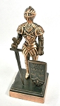 Knight with Shield Die Cast Metal Collectible Pencil Sharpener