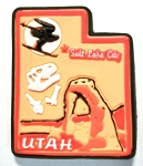 Utah Multi Color Fridge Magnet Design 18