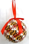 Maryland Flag Design Ball Christmas Tree Ornament Design 10