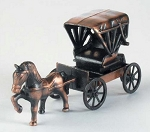 Carriage with Horse Die Cast Metal Collectible Pencil Sharpener Design 1