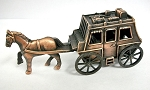 Stage Coach with Horse Die Cast Metal Collectible Pencil Sharpener Design 1