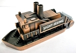 Sight-Seeing Paddle Boat Die Cast Metal Collectible Pencil Sharpener Design 1