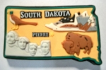 South Dakota Multi Color Fridge Magnet Design 18