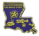Louisiana The Bayou State Map Fridge Magnet  (COPY)