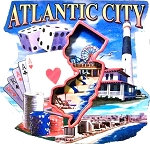 Atlantic City Montage Artwood Fridge Magnet