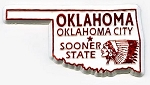 Oklahoma State Outline Fridge Magnet Design 1