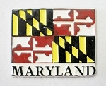 Maryland 4 Color Flag Fridge Magnet Design 1