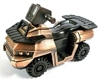 ATV Die Cast Metal Collectible Pencil Sharpener Design 1