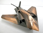 F-117A Stealth Fighter Plane Die Cast Metal Collectible Pencil Sharpener Design 1