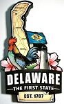 Delaware Classic Artwood Fridge Magnet Design 12