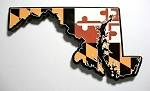 Maryland with State Flag Design Decowood Fridge Magnet Design 10