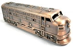 Diesel Locomotive Die Cast Metal Collectible Pencil Sharpener Design 1