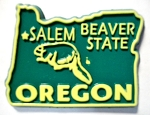 Oregon State Outline Fridge Magnet Design 10