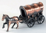Covered Wagon with Horse Die Cast Metal Collectible Pencil Sharpener Design 1