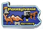 Pennsylvania Multi Color Fridge Magnet Design 18