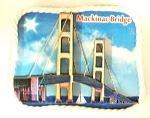 Mackinac Bridge Artwood Fridge Magnet