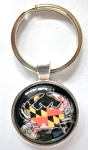 Maryland Flag Crab Bubble Keychain Design 10