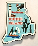 Rhode Island Multi Color Fridge Magnet Magnet Design 18