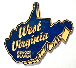 West Virginia Almost Heaven Fridge Magnet Design 27