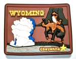 Wyoming Multi Color Fridge Magnet Design 18
