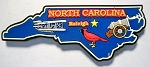 North Carolina Raleigh Multi Color Fridge Magnet Design 18