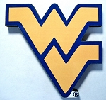 West Virginia Mountaineer's WV Artwood Fridge Magnet Design 27