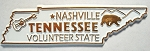 Tennessee State Outline Fridge Magnet Design 10