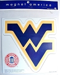 West Virginia Mountaineer's Small WV Car Magnet-NCAA