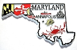 Maryland 4 Color State Souvenir Fridge Magnet Design 10)