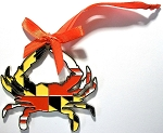 Maryland Crab Flag Design Metal Christmas Tree Ornament