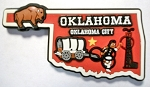 Oklahoma Multi Color Fridge Magnet Design 18
