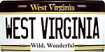 West Virginia State License Plate Fridge Magnet