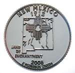 New Mexico State Quarter Fridge Magnet Design 13